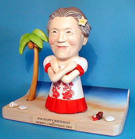 そっくり人形参考作品11-3 ハワイ おばあさんへ