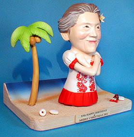 そっくり人形参考作品11-4 ハワイ おばあさんへ