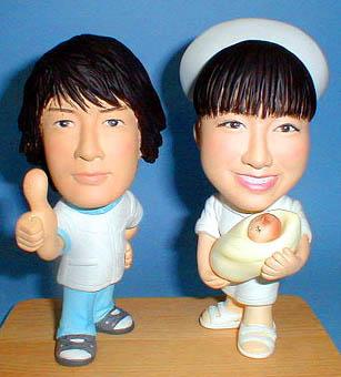 そっくり人形参考作品2tou18-1ウェルカムドール 指圧師 助産師
