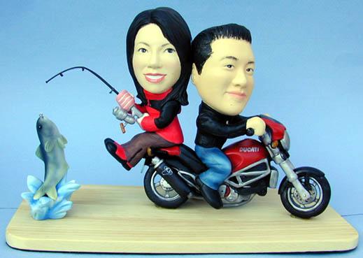 そっくり人形参考作品20-1ウェルカムドール バイク&釣り