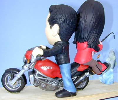 そっくり人形参考作品20-3ウェルカムドール バイク&釣り