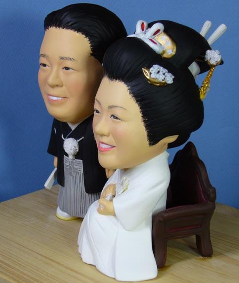 そっくり人形参考作品29-3ウェルカムドール (和装・羽織袴・白無垢)