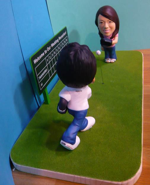 そっくり人形参考作品32-3ウェルカムドール(キャッチボール)