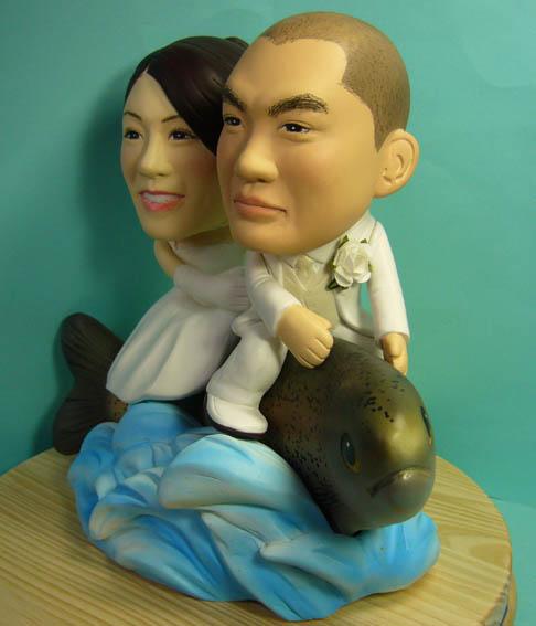 そっくり人形参考作品34-2ウェルカムドール ニジマスに乗って