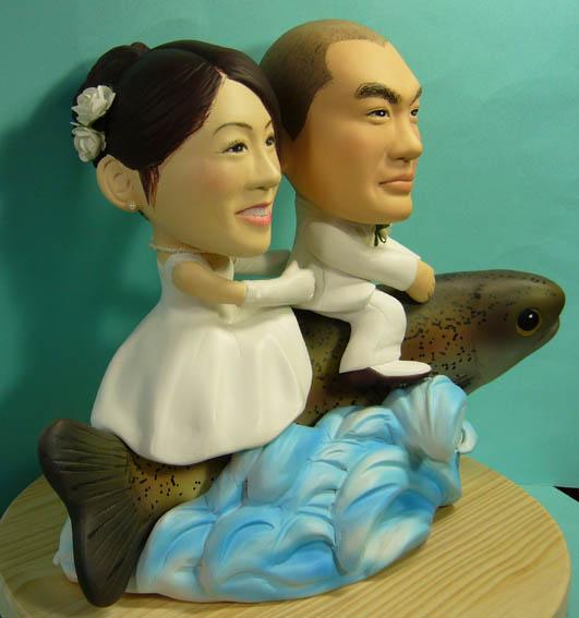 そっくり人形参考作品34-3ウェルカムドール ニジマスに乗って