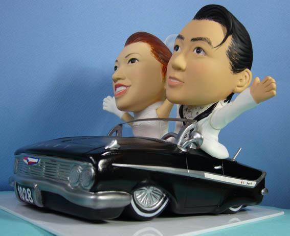 そっくり人形参考作品35-2ウェルカムドール アメ車に乗って