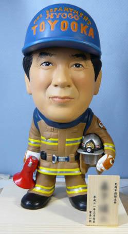 そっくり人形参考作品46-1消防士(拡声器)