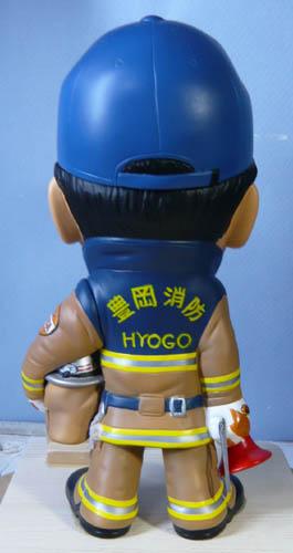 そっくり人形参考作品46-4消防士(拡声器)