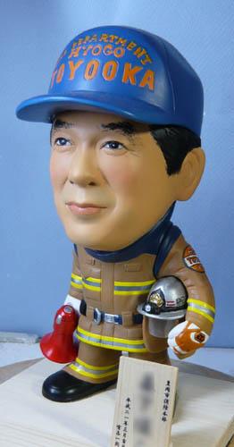 そっくり人形参考作品46-5消防士(拡声器)