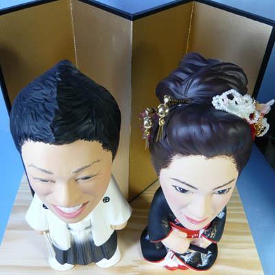 そっくり人形参考作品47-4ウェルカムドール(金屏風に和装)