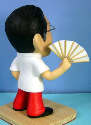 そっくり人形参考作品48-4還暦祝い(扇子を持って)