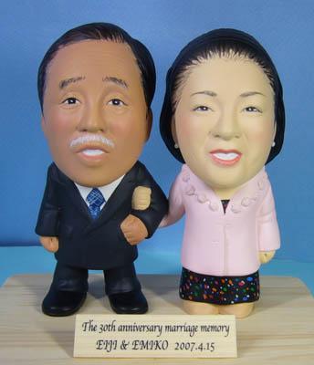 そっくり人形参考作品50-1 結婚30周年(真珠婚式)
