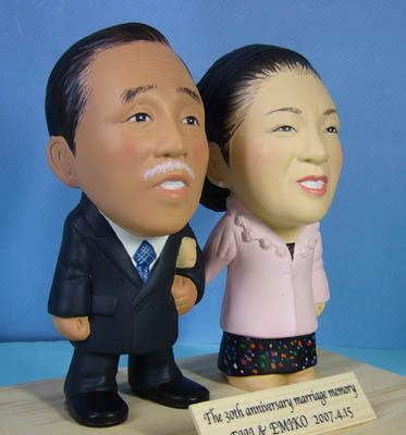 そっくり人形参考作品50-2 結婚30周年(真珠婚式)