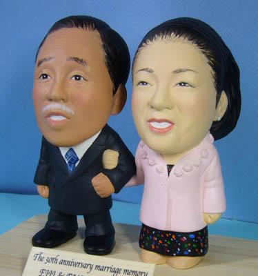 そっくり人形参考作品50-3 結婚30周年(真珠婚式)