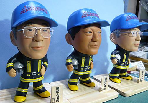 そっくり人形参考作品54-2消防士 退職 異動