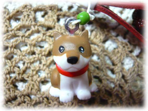 名入れ柴犬マスコット付きストラップ(肉球)-2