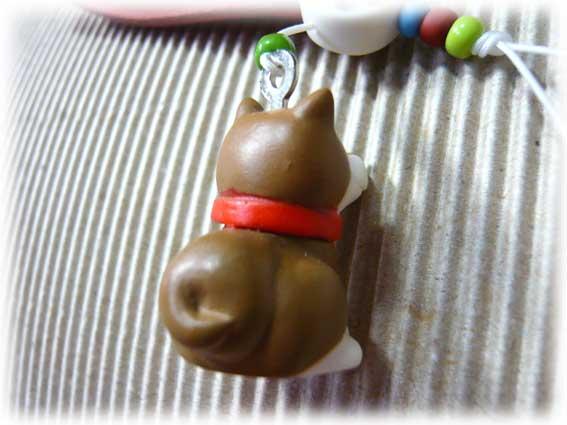 名入れ柴犬マスコット付きストラップ(肉球)-3