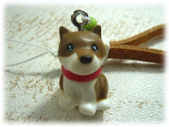 スエード肉球ストラップ・柴犬-2