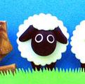 年賀状用オリジナル干支人形-羊(ひつじ)-1s