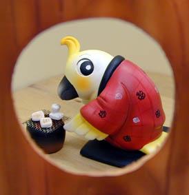年賀状用オリジナル干支人形-酉(鳥)-1
