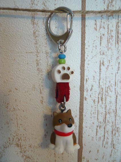 柴犬マスコット付きキーホルダー-1
