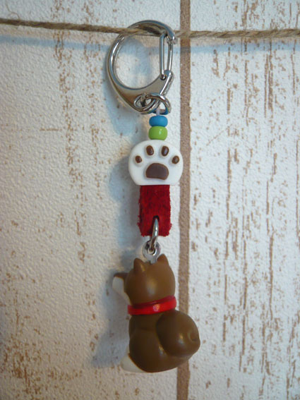 柴犬マスコット付きキーホルダー-2