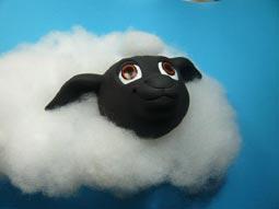 年賀状用オリジナル干支人形-羊(ひつじ)-2015-1