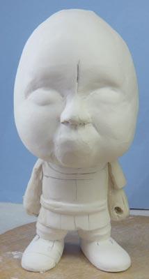 初節句・五月人形の制作過程1-1