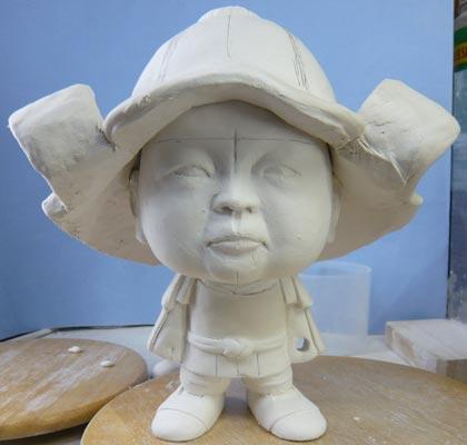 初節句・五月人形の制作過程1-6