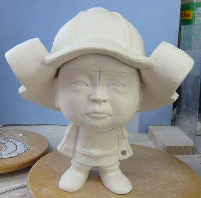 初節句・五月人形の制作過程1-8