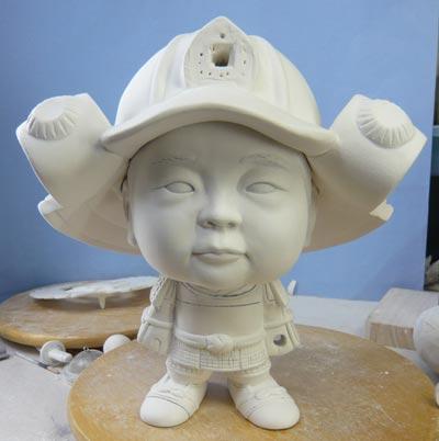 初節句・五月人形の制作過程1-15