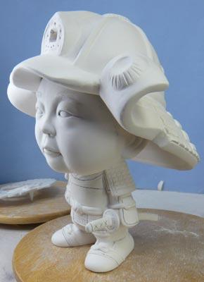 初節句・五月人形の制作過程1-16