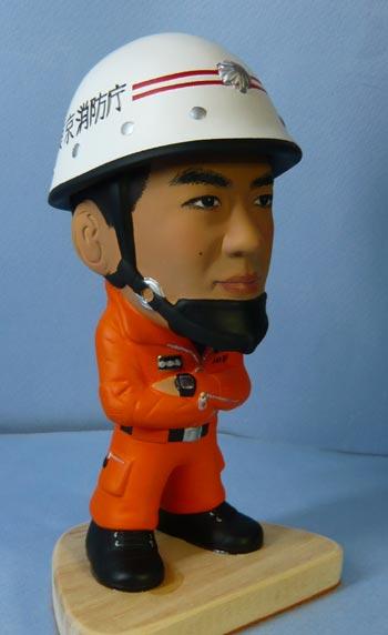東京消防庁レスキュー隊(異動の記念品)-そっくり人形参考作品例-3-3