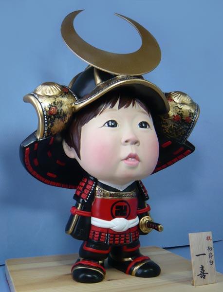 五月人形(初節句・鎧兜)-そっくり人形参考作品例6-2