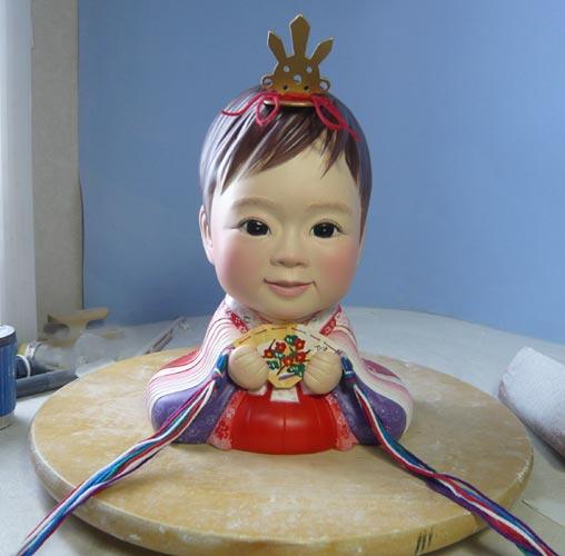 雛人形(ひな人形)制作過程-46