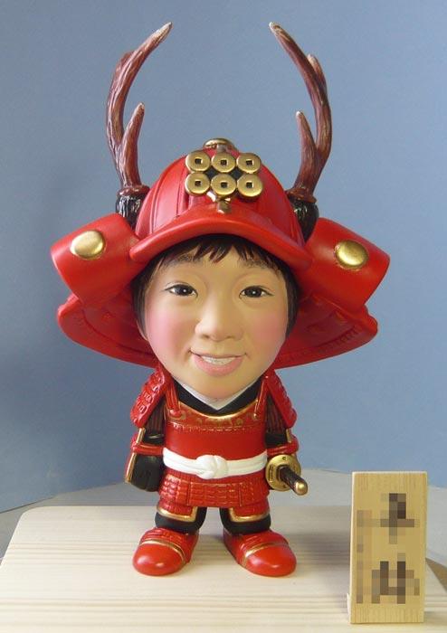 武者人形(真田幸村風)赤備え鎧兜-そっくり人形参考作品例-57-1