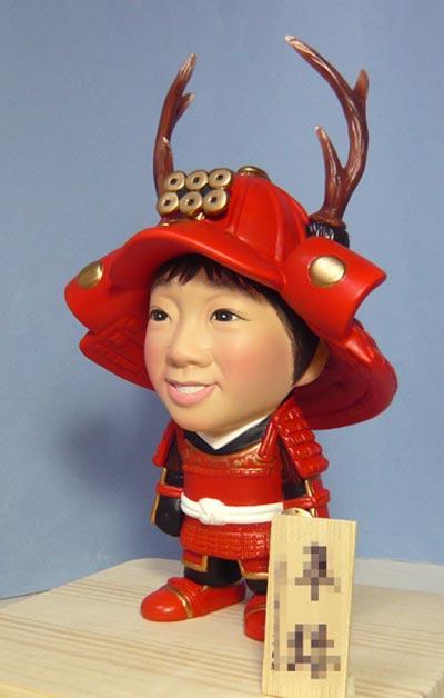 武者人形(真田幸村風)赤備え鎧兜-そっくり人形参考作品例-57-2