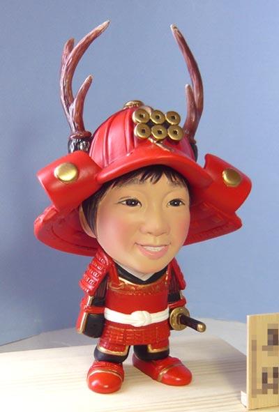 武者人形(真田幸村風)赤備え鎧兜-そっくり人形参考作品例-57-3