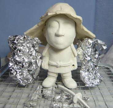 真田幸村風の赤備え甲冑(武者人形)!!五月人形の制作過程-20