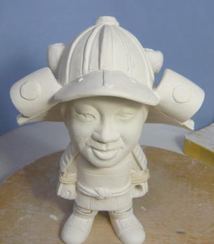 真田幸村風の赤備え甲冑(武者人形)!!五月人形の制作過程-39
