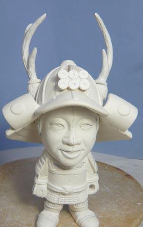 真田幸村風の赤備え甲冑(武者人形)!!五月人形の制作過程-45