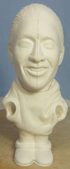 奥様へ(旦那様からの誕生日プレゼント)-そっくり女性人形制作過程-44