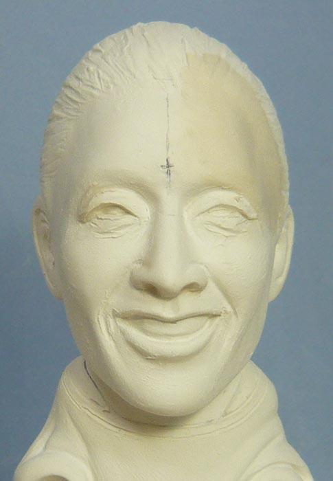奥様へ(旦那様からの誕生日プレゼント)-そっくり女性人形制作過程-45
