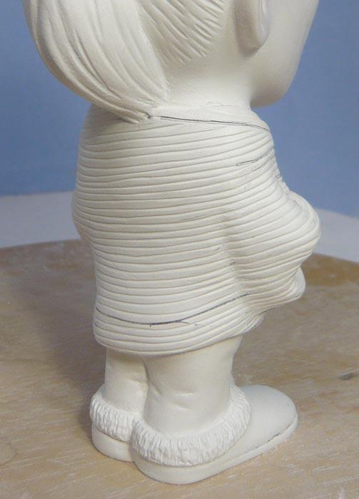 奥様へ(旦那様からの誕生日プレゼント)-そっくり女性人形制作過程-51