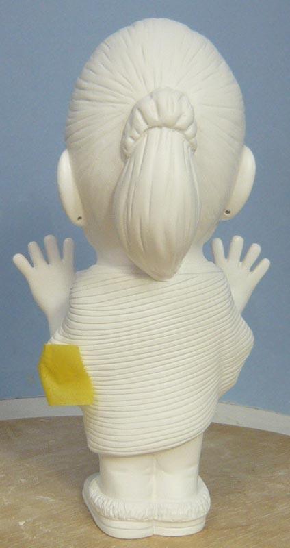 奥様へ(旦那様からの誕生日プレゼント)-そっくり女性人形制作過程-56
