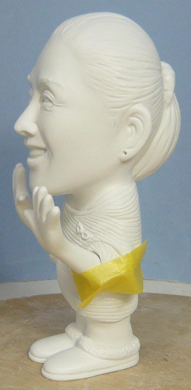奥様へ(旦那様からの誕生日プレゼント)-そっくり女性人形制作過程-57
