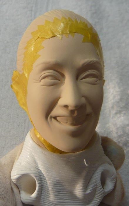 奥様へ(旦那様からの誕生日プレゼント)-そっくり女性人形制作過程-59