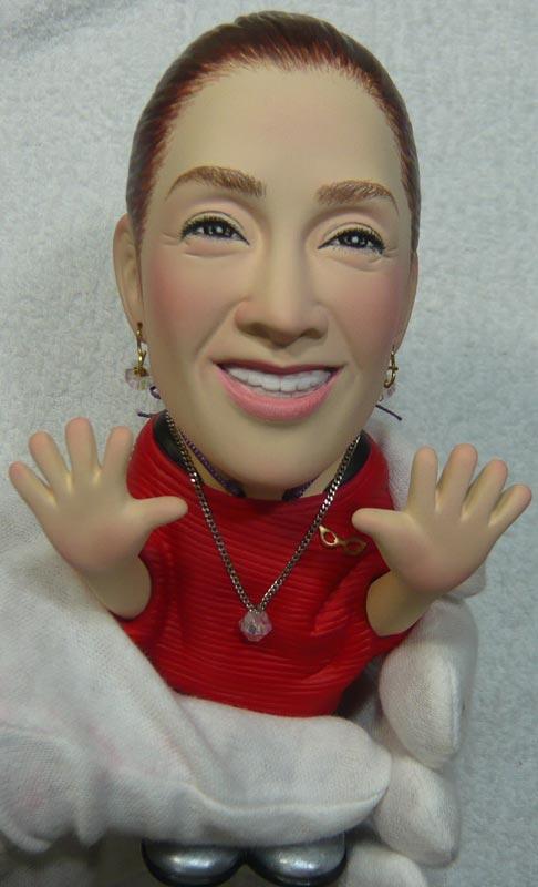 奥様へ(旦那様からの誕生日プレゼント)-そっくり女性人形制作過程-74