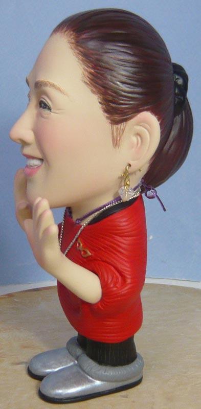 奥様へ(旦那様からの誕生日プレゼント)-そっくり女性人形制作過程-80
