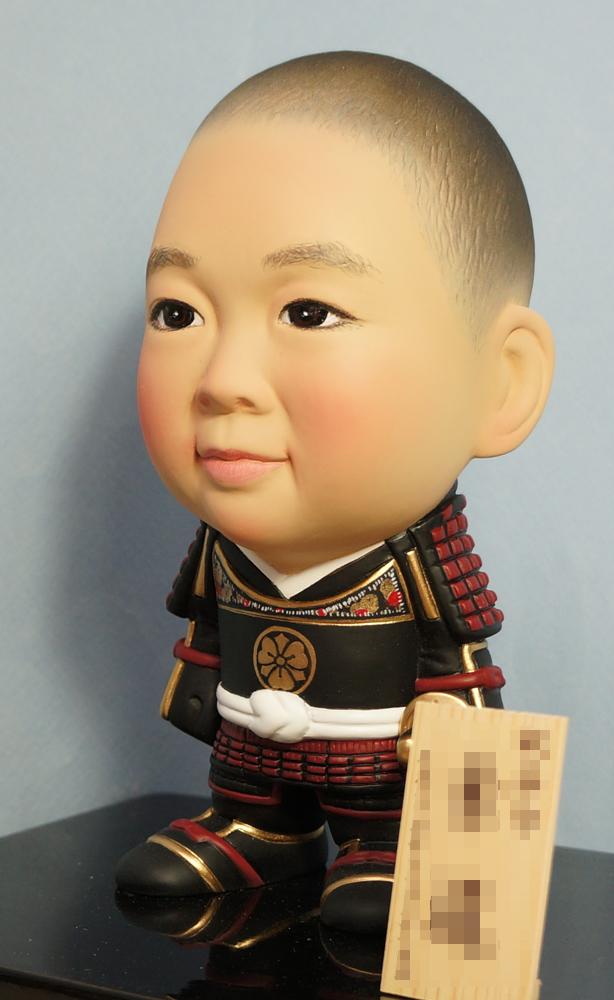 ご兄弟揃っての節句人形!!坊主あたまの可愛い武者鎧姿-そっくり人形参考作品例-59-2